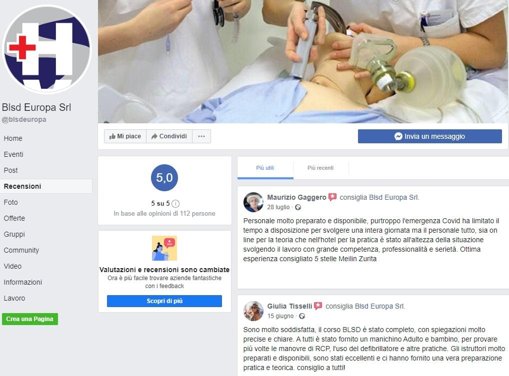 Recensioni Facebook Corsi HS Academy